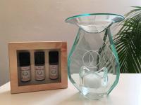 Duftlampe mit Kristallen und energetisierten Ölen