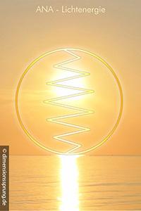 Meditationskarte / Energiesymbolkarte ANA - Lichtenergie