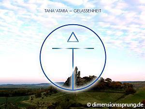 Meditationskarte / Energiesymbolkarte TANA'ATARA (TANAATARA) - Gelassenheit