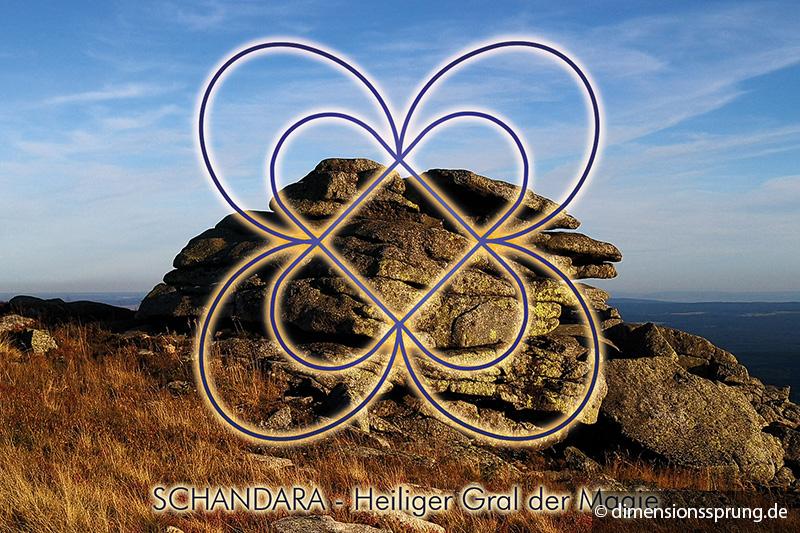 Meditationskarte / Energiesymbolkarte SCHANDARA - Heiliger Gral der Magie
