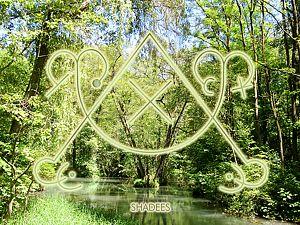 Meditationskarte / Energiesymbolkarte SHADEES - Schwingung von Mutter Erde